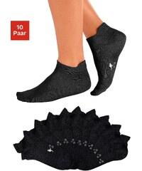 kangaroos_mode Große Größen: KangaROOS Sneakersocken (10 Paar) mit erhöhter Ferse, 10x schwarz, Gr.35-38-39-42