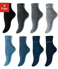 Große Größen: s.Oliver RED LABEL Bodywear Business- und Freizeitkurzsocken (8 Paar), 4x grautöne + 4x jeanstöne, Gr.35-38-39-42