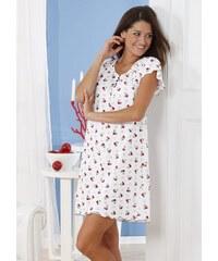 Große Größen: Sleepshirt, Arabella, weiß-rot, Gr.36/38-52/54