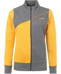 Große Größen: ERIMA Tracktop Jacke Damen, grau melange/curcuma, Gr.34-48