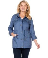 Große Größen: sheego Casual Jacke aus komfortablem Baumwolltwill, rauchblau, Gr.40-56