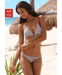 Große Größen: Triangel-Bikini, Buffalo, weiß bedruckt, Gr.32-36