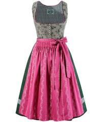 Große Größen: Dirndl midi, mit traditionellem Blumendruck, Turi Landhaus, grün/pink, Gr.34-52