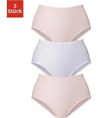 Große Größen: Petite Fleur Slip höher geschnitten (3 Stück), rosa + weiß, Gr.36-52