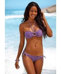 Große Größen: Bikini-Hose ´´Scuba´´, s.Oliver RED LABEL Beachwear, lila kariert, Gr.34-42