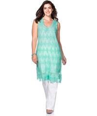 Große Größen: sheego Style Spitzenkleid, mint, Gr.40-58