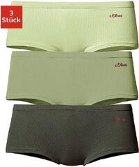Große Größen: s.Oliver RED LABEL Bodywear Baumwoll-Hipsterpanty (3 Stück), 3x grün-oliv, Gr.32/34-44/46