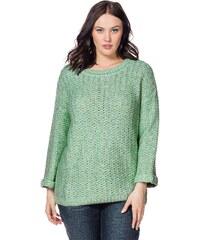 Große Größen: sheego Casual Pullover, apfelgrün, Gr.40/42-56/58