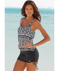Große Größen: Badeanzug-Kleid, LASCANA, schwarz bedruckt, Gr.36-46