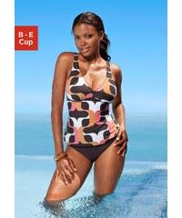 Große Größen: Bügel-Tankini, s.Oliver RED LABEL Beachwear, braun bedruckt, Gr.40 (80)-54 (115)