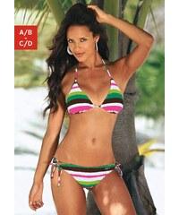Große Größen: Triangel-Bikini, Buffalo, grün gestreift, Gr.32-40
