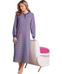 Große Größen: Nachthemd, blau-grau-geringelt, Gr.36/38-52/54