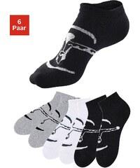 Große Größen: Chiemsee Sneakersocken (6 Paar) ideal für Sport & Freizeit, 2x schwarz + 2x weiß + 2x grau, Gr.35-38-47-48