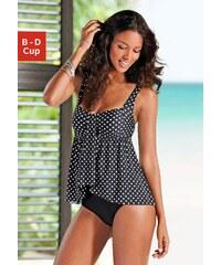 Große Größen: Badeanzug, LASCANA, schwarz-weiß, Gr.38 (75)-54 (115)
