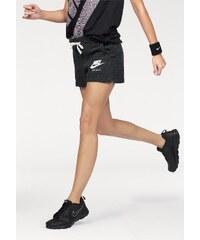 Große Größen: Nike Sportswear Sweatshorts »GYM VINTAGE SHORT«, schwarz-meliert, Gr.XS (30/32)-L (42/44)