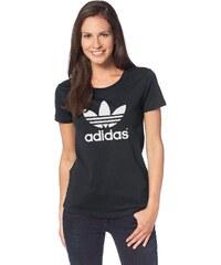 Große Größen: adidas Originals T-Shirt »TREFOIL TEE«, schwarz, Gr.34-44
