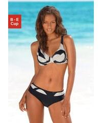 Große Größen: Bügel-Bikini, LASCANA, schwarz bedruckt, Gr.38-48