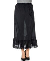 Große Größen: sheego Style Unterrock mit Spitze, schwarz, Gr.40-58