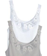 Große Größen: Hemd, Rosalie (2 Stck.), weiß+silberfarben, Gr.38-52