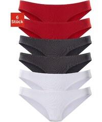 Große Größen: Vivance Active sportliche Microfaser-Bikinislips (6 Stück), 2x rot + 2x schwarz + 2x weiß, Gr.32/34-48/50