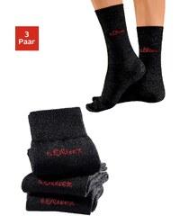 Große Größen: s.Oliver RED LABEL Bodywear Socken (3 Paar) außen mit Wolle, Made in Germany, 3x schwarz, Gr.35-38-39-42