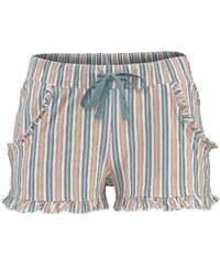 Große Größen: LASCANA Shorts mit dezentem Rüschenbesatz, mint gestreift, Gr.32/34-40/42