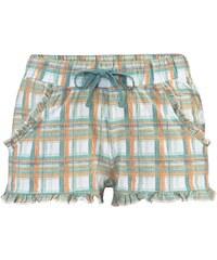 Große Größen: LASCANA Shorts mit dezentem Rüschenbesatz, mint kariert, Gr.32/34-44/46