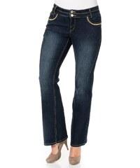 Große Größen: sheego Denim Bootcut Stretch-Jeans Maila, dark blue denim, Gr.21-104