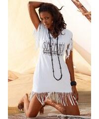 Große Größen: Longshirt, Beach Time, weiß, Gr.36/38-56/58