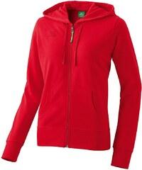 Große Größen: ERIMA Kapuzensweatjacke Damen, rot, Gr.34-48