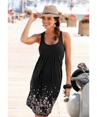 Große Größen: Beachtime Strandkleid mit Blumenprint, schwarz, Gr.34-52