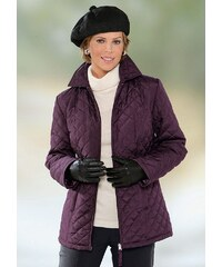 Große Größen: Classic Basics Jacke mit Hemdkragen, aubergine, Gr.38-56