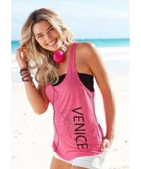 Große Größen: Venice Beach Top und Bustier (2-tlg.), pink + schwarz, Gr.32/34-40/42