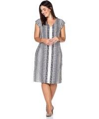 Große Größen: sheego Class Kleid, marine-weiß, Gr.40-58