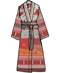 Große Größen: Kimono, Bassetti, »Grancollage«, im Mustermix, rot, Gr.L-XL-L-XL