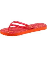 Große Größen: flip*flop Zehentrenner mit Shiny Finsh, orange kombiniert, Gr.36-42