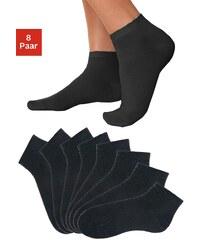 Große Größen: GO IN Füßlinge (8 Paar) in verschiedenen Unifarben, 8x schwarz, Gr.35-38-43-46