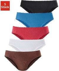 Große Größen: GO IN Microfaserslips (5 Stück), braun+weiß+rot+hellblau+schwarz, Gr.34-48