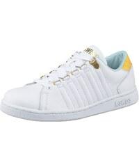 Große Größen: K-Swiss Lozan III Sneaker, Weiß-Gelb-Türkis, Gr.36-41