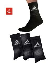 ADIDAS PERFORMANCE Große Größen: adidas Klassische Sport- und Freizeitsocken (3 Paar), 3x schwarz, Gr.35-38-43-46