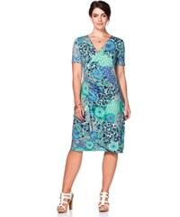 Große Größen: sheego Style Jerseykleid in Wickeloptik, mint, Gr.42-58