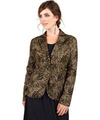 Große Größen: sheego Trend Blazer, schwarz/gold, Gr.40-52