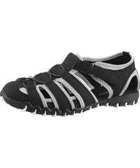 Große Größen: Slipper, City Walk, schwarz-grau, Gr.36-41