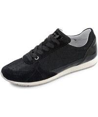 Große Größen: Geox Wisdom Sneaker, schwarz, Gr.41-41