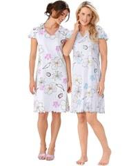 Große Größen: Sleepshirts, Arabella (2 Stck.), türkis + rosé, Gr.36/38-52/54