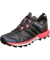 Große Größen: adidas Performance Terrex Agravic GTX Trail Laufschuh Damen, anthrazit / rosa, Gr.5.5 UK - 38.2/3 EU-8.5 UK - 42.2/3 EU