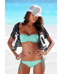Große Größen: Bikini-Hose ´´Melange´´, Venice Beach, mint-weiß, Gr.32-42