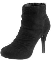 Große Größen: Laura Scott High Heel Stiefelette mit Raffung, schwarz, Gr.36-41