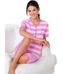 Große Größen: Capri-Anzug, pink-gemustert, Gr.36/38-52/54
