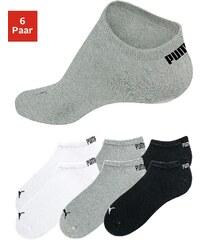 Große Größen: PUMA Sportliche Füßlinge (6 Paar) in klassischer Form, 2x weiß + 2x grau meliert + 2x schwarz, Gr.35-38-43-46